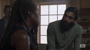 Guardians- Siddiq and Michonne talk about Carol- AMC, The Walking Dead