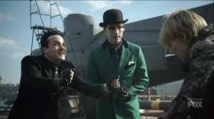 I Am Bane- Barbara meets with Penguin and Riddler at the docks- Gotham, Fox