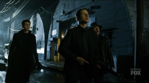 I Am Bane- Bruce, Jim, and Harvey watch as Gotham City is attacked- Fox, Gotham