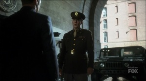 I Am Bane- General Wade, played by John Bedford Lloyd, greets Jim, Harvey, and Bruce- Gotham, Fox
