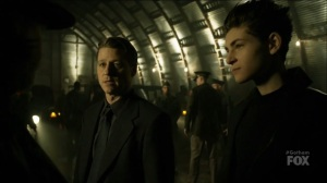 I Am Bane- Jim learns from Harvey that Barbara gave birth to a baby girl- Fox, Gotham