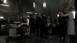 Nothing's Shocking- Jane Doe takes Barbara hostage at the GCPD- Fox, Gotham