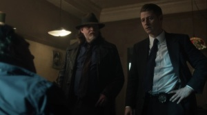 Nothing's Shocking- Jim and Harvey question Dix on the murders- Fox, Gotham