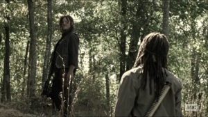 Scars- Daryl and Michonne talk about being alone- The Walking Dead, AMC