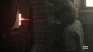 Scars- Daryl gets an X burned into his back- AMC, The Walking Dead