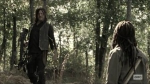 Scars- Daryl tells Michonne about his search for Rick- AMC, The Walking Dead