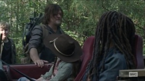 Scars- Daryl thanks Michonne and Judith for their help- AMC, The Walking Dead