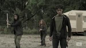Scars- Jocelyn's kids about to battle Michonne- AMC, The Walking Dead