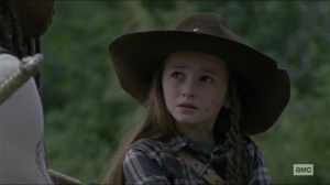 Scars- Judith asks Michonne when they stopped loving the others- AMC, The Walking Dead