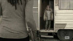 Scars- Judith comes out of the RV- AMC, The Walking Dead