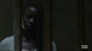 Scars- Michonne and Negan talk about Judith- AMC, The Walking Dead