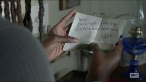 Scars- Michonne finds Judith's note- AMC, The Walking Dead