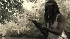 Scars- Michonne finds Rick's gun- AMC, The Walking Dead