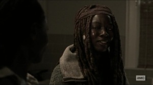 Scars- Michonne happy to have Jocelyn at her side- AMC, The Walking Dead