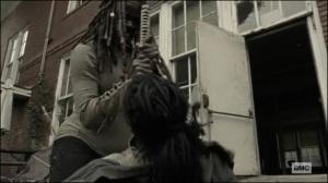 Scars- Michonne kills Jocelyn- AMC, The Walking Dead