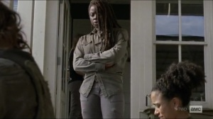 Scars- Michonne speaks with Daryl and Connie- AMC, The Walking Dead