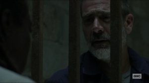 Scars- Negan realizes that Michonne can't find Judith- AMC, The Walking Dead