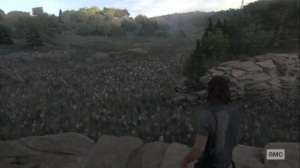 The Calm Before- Daryl sees the massive herd- AMC, The Walking Dead