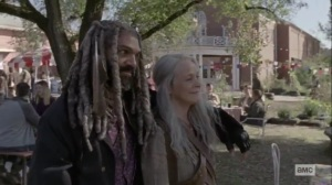 The Calm Before- Ezekiel and Carol happy to see Henry with a girl- AMC, The Walking Dead