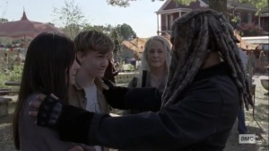 The Calm Before- Ezekiel wants Henry and Lydia to stay for the movie- AMC, The Walking Dead