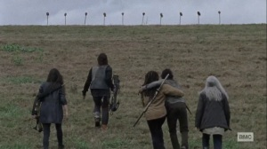 The Calm Before- Finding the border wall- AMC, The Walking Dead