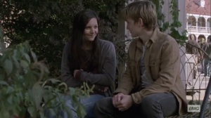The Calm Before- Henry talks with Lydia at the fair- AMC, The Walking Dead