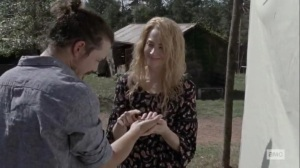 The Calm Before- Hilde and Miles celebrate their anniversary- AMC, The Walking Dead