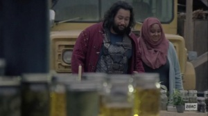 The Calm Before- Jerry and Nabila at the fair- AMC, The Walking Dead