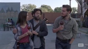 The Calm Before- Luke and Alden talk with Enid about singing at the fair- AMC, The Walking Dead