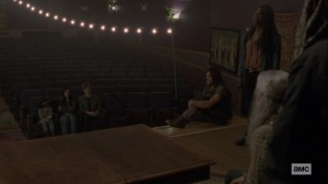 The Calm Before- Michonne speaks with community leaders about protecting Lydia- AMC, The Walking Dead