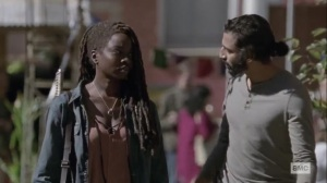 The Calm Before- Michonne tells Siddiq that she's headed to Hilltop- AMC, The Walking Dead