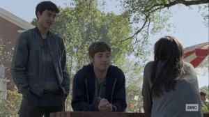 The Calm Before- Rodney and Gage tell Lydia that Addy likes Henry- AMC, The Walking Dead