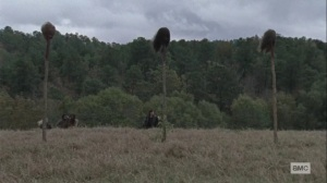 The Calm Before- Siddiq shows the others the border- AMC, The Walking Dead
