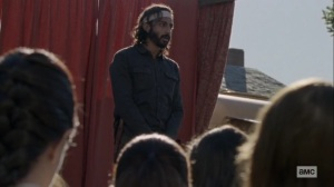 The Calm Before- Siddiq tells the crowd about what happened to the others- AMC, The Walking Dead
