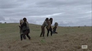 The Calm Before- Survivors react to seeing Alpha's border- AMC, The Walking Dead