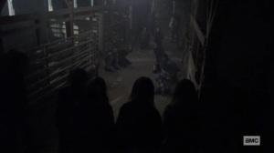 The Calm Before- Whisperers confront the kidnapped survivors- AMC, The Walking Dead