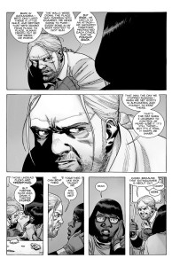 The Walking Dead #189- Eugene tells Stephanie about how Rick helped him to stop running