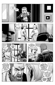 The Walking Dead #189- Rick tells Pamela that Mercer has been freed