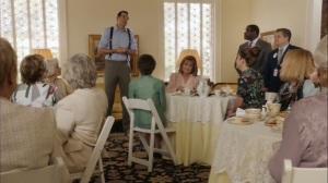 Discovery Weekend- Jonah address a women's tea time gathering- Veep, HBO