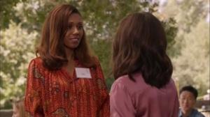 Discovery Weekend- Kemi Talbot, played by Toks Olagundoye, speaks with Selina- Veep, HBO