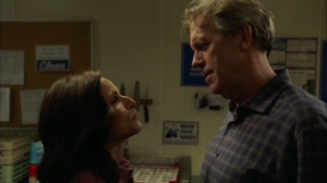 Discovery Weekend- Selina and Tom about to kiss- Veep, HBO