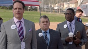 Iowa- Bill, Teddy, and Richard on Jonah's campaign- HBO, Veep