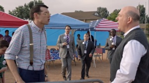 Iowa- Jonah speaks with his step-father- HBO, Veep