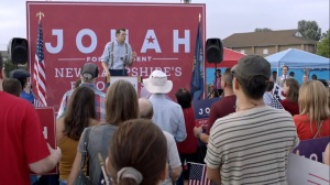 Iowa- Jonah's campaign rally in New Hampshire- HBO, Veep