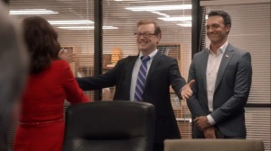 Iowa- Keith Quinn, played by Andrew Daly, joins Selina's campaign team- HBO, Veep