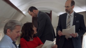 Iowa- Leon gives out copies of Selina's speech- HBO, Veep