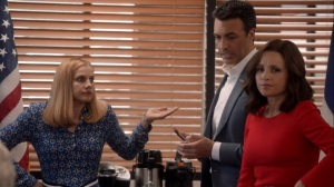 Iowa- Selina, Amy, and Dan react to the news- HBO, Veep