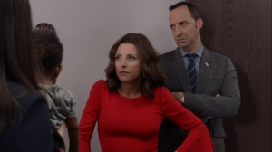 Iowa- Selina and Gary with Catherine and Marjorie- HBO, Veep