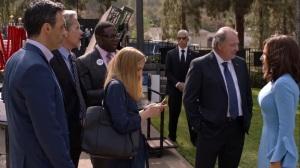 Iowa- Selina learns of a mass shooting in Phoenix- HBO, Veep