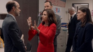 Iowa- Selina tells Leon not to worry about her announcement- HBO, Veep